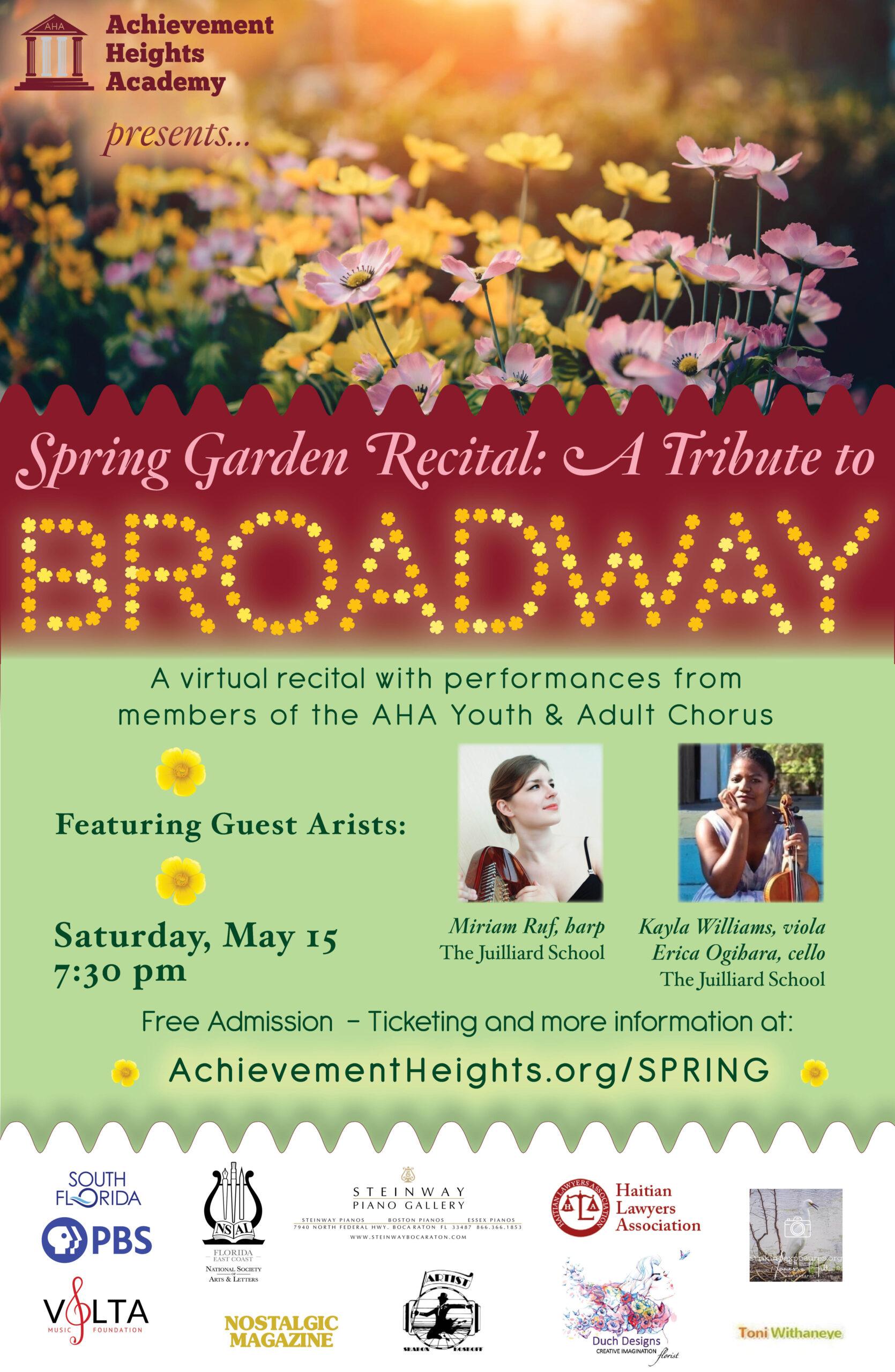 Spring Garden recital flyer facebook email